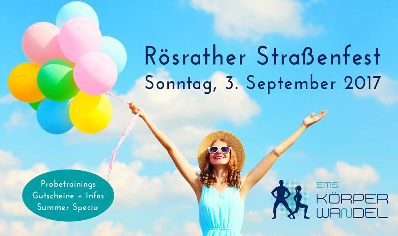 Rösrather Straßenfest am Sonntag, 3. September 2017